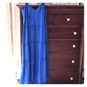 BCBGMaxAzria blue maxi dress.